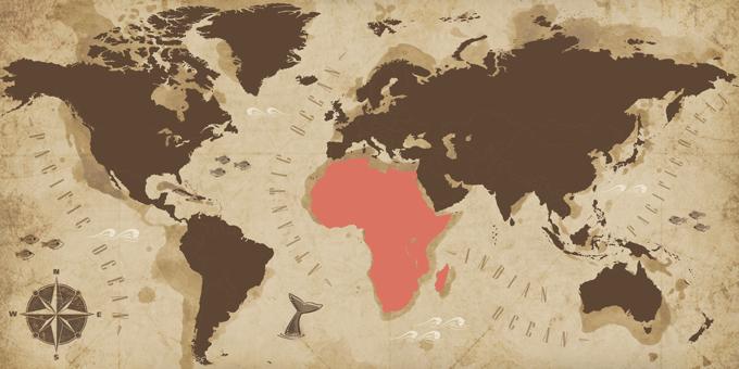 Afrika - Karte