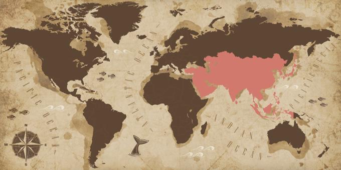 Asien - Karte