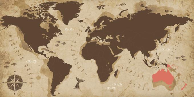Ozeanien - Karte