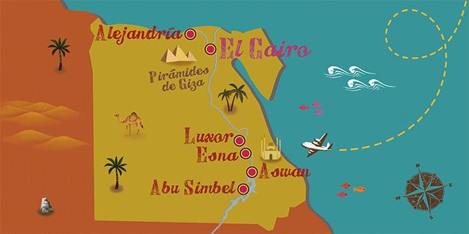 Ägypten - Karte