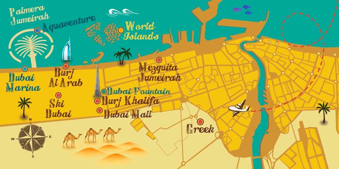 Arabische Emirate - Karte