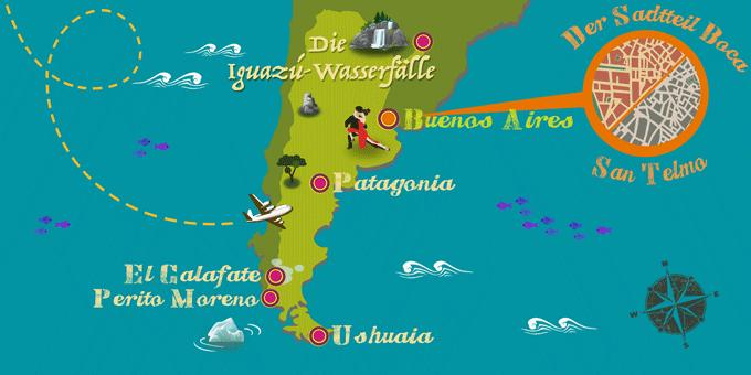 Argentinien map
