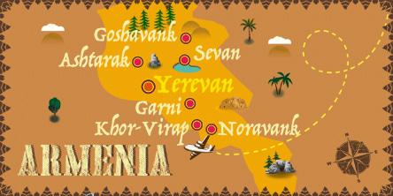 Armenien - Karte