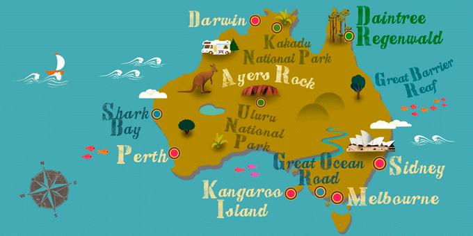 Australien - Karte