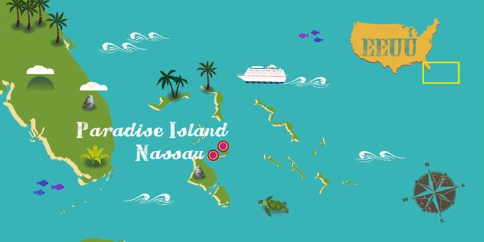 Bahamas - Karte