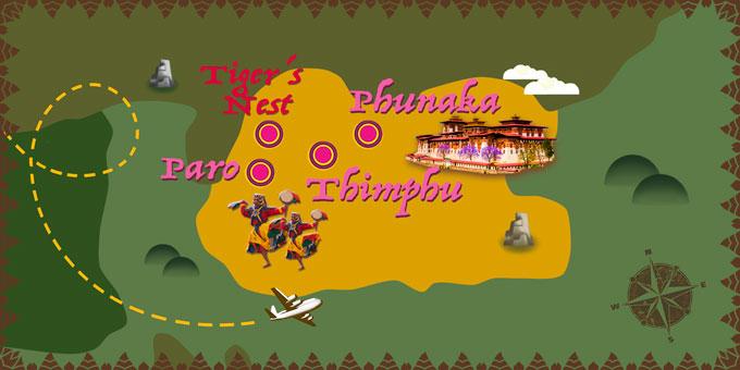 Bhutan - Karte