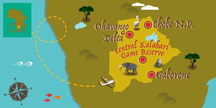 Botswana - Karte