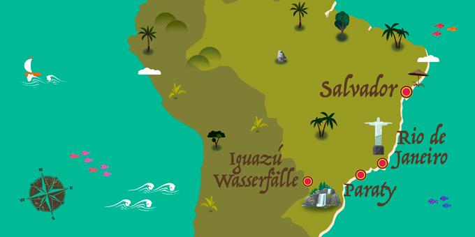 Brasilien - Karte