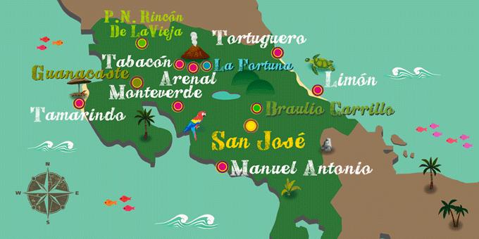 Costa Rica - Karte