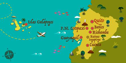 Ecuador - Karte