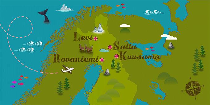 Finnland - Karte