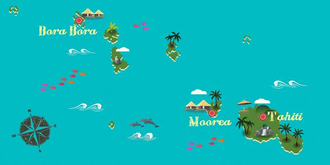 Französisch-Polynesien - Karte