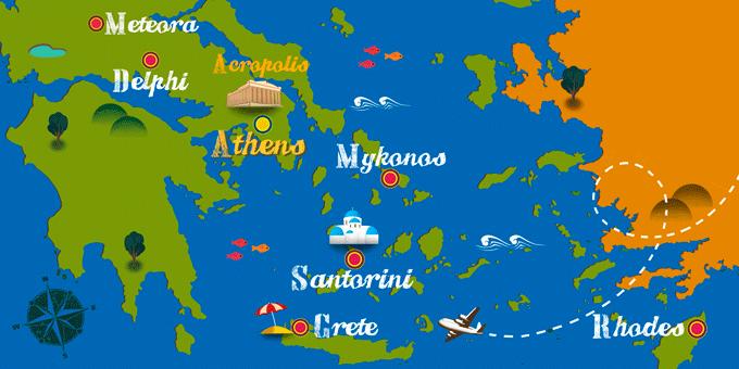 Griechenland - Karte