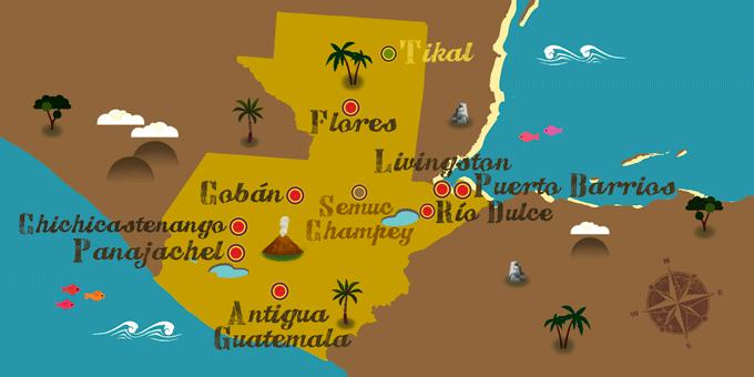 Guatemala - Karte