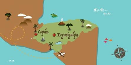 Honduras - Karte