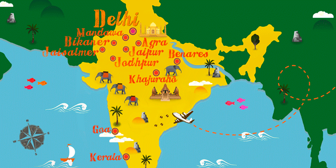 Indien - Karte
