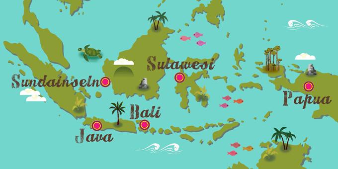 Indonesien - Karte