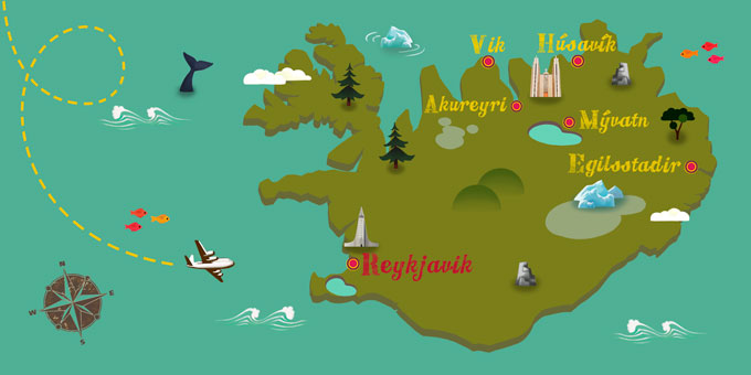 Island - Karte