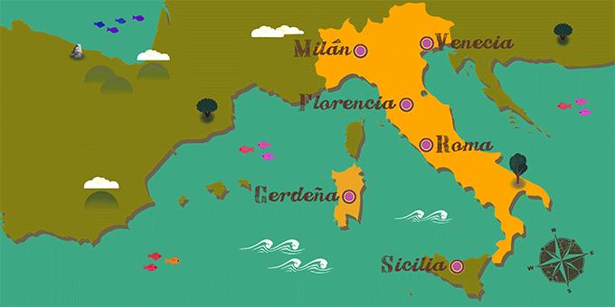 Italien - Karte