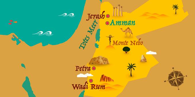 Jordanien - Karte