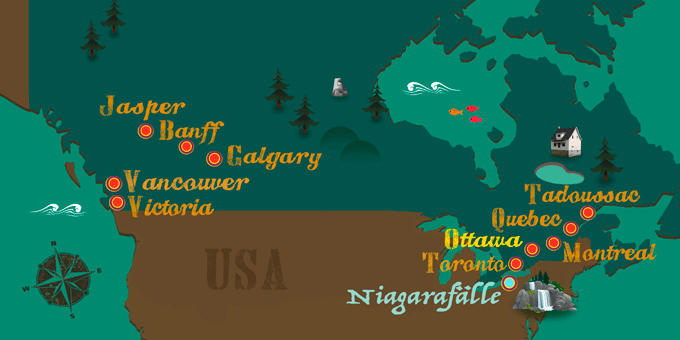 Kanada - Karte