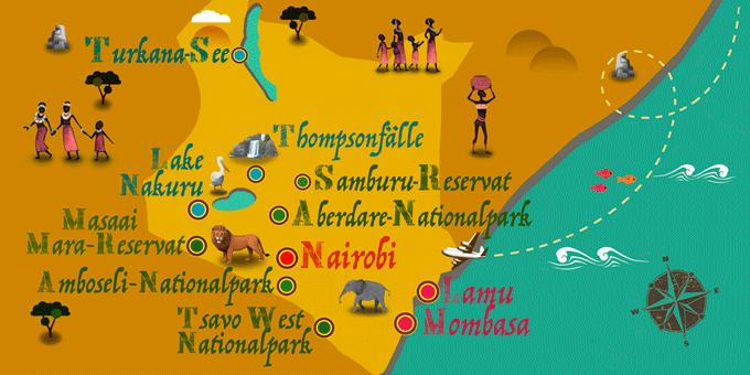 Kenia - Karte
