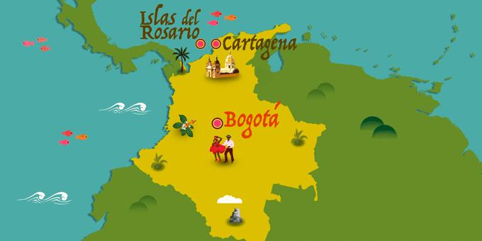 Kolumbien - Karte