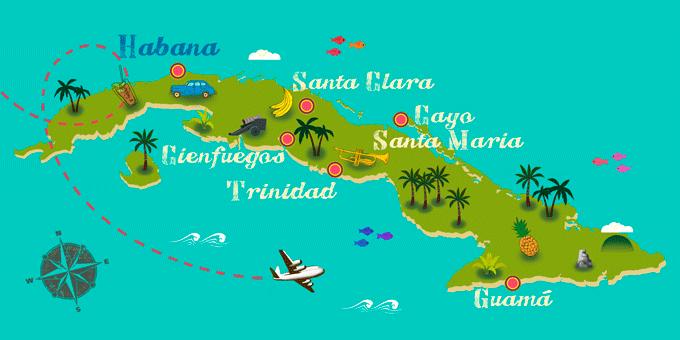 Kuba - Karte