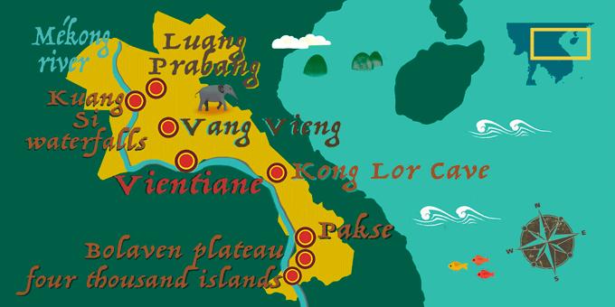 Laos - Karte