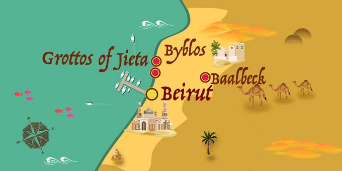 Libanon - Karte