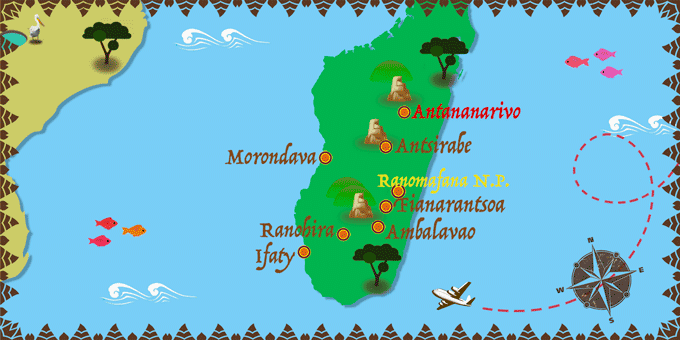 Madagaskar - Karte