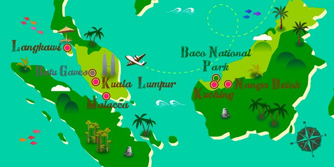 Malaysia - Karte