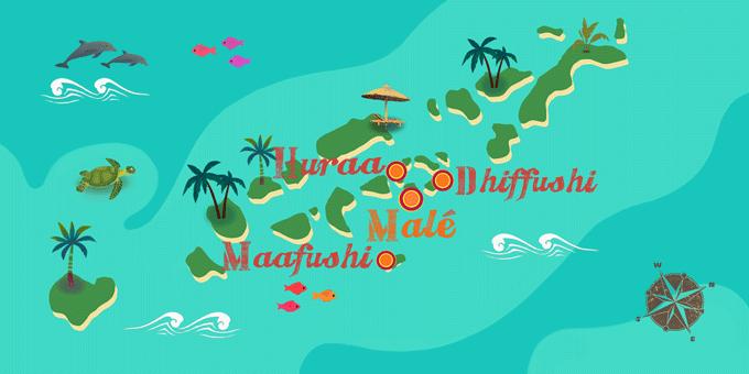 Malediven - Karte