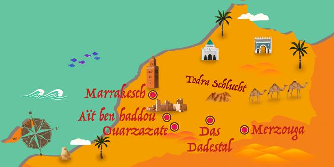 Marokko - Karte