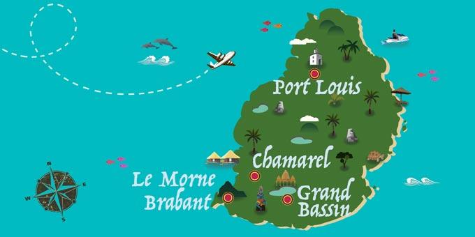 Mauritius - Karte