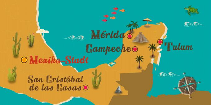 Mexiko - Karte