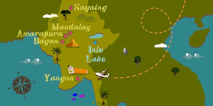 Myanmar - Karte