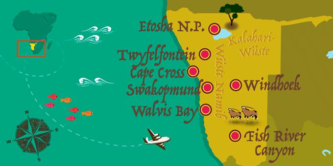 Namibie map
