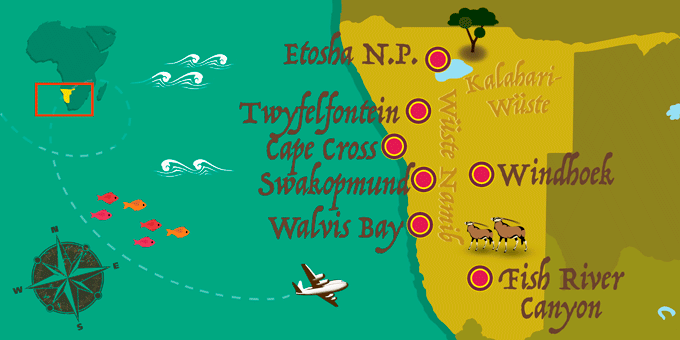 Namibia - Karte