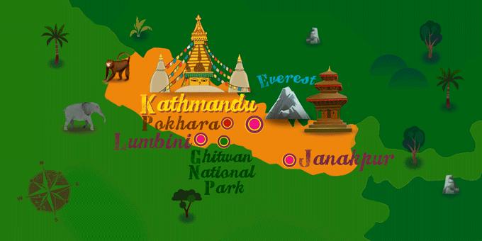 Nepal - Karte
