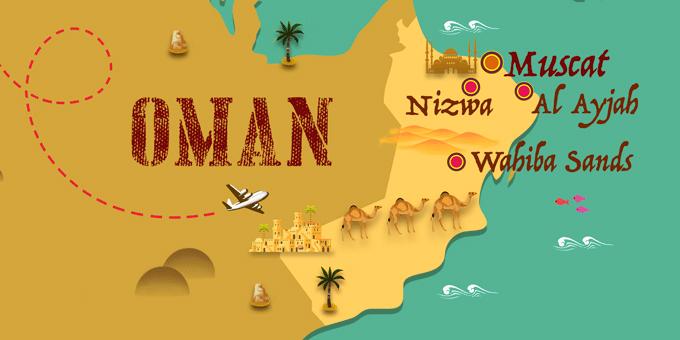 Oman - Karte