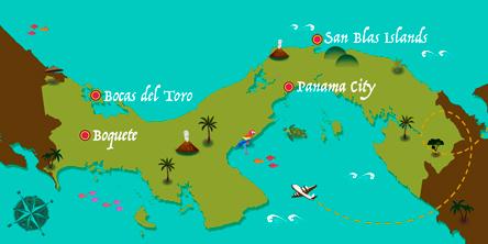 Panama - Karte