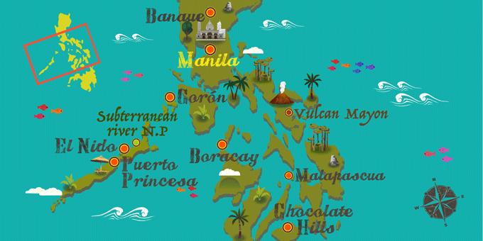 Philippinen - Karte