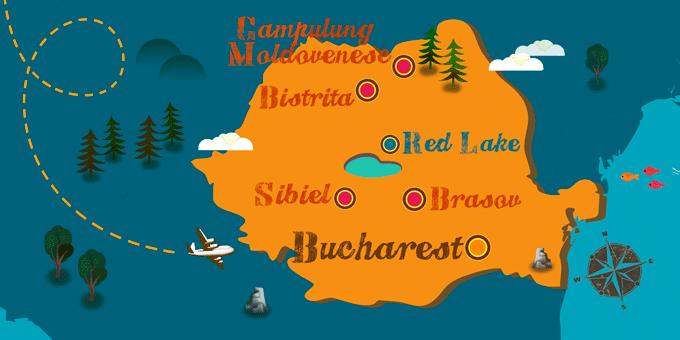Rumänien - Karte
