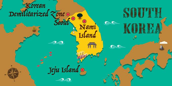 Südkorea - Karte