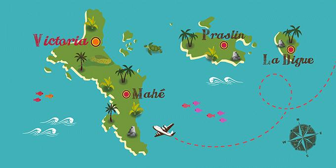 Seychellen - Karte