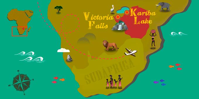 Simbabwe - Karte