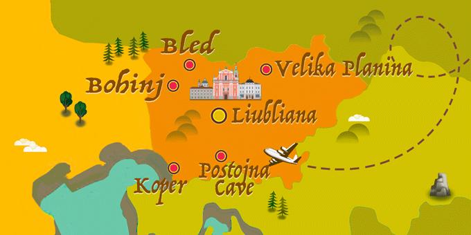 Slowenien - Karte