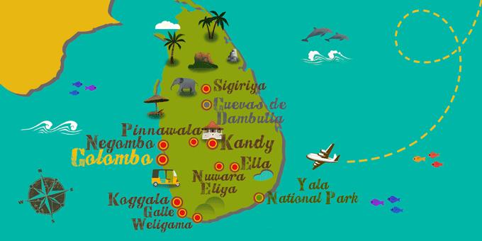 Sri Lanka - Karte