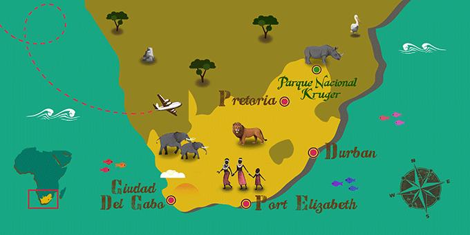 Südafrika - Karte